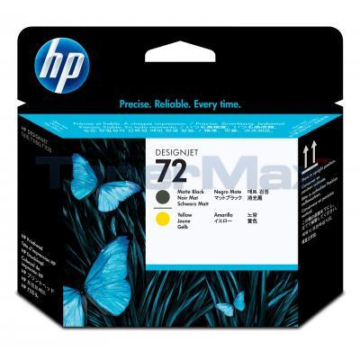 HP NO 72 PRINTHEAD MATTE BLACK/YELLOW 